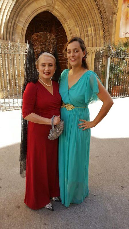 Pendientes para vestido azul turquesa